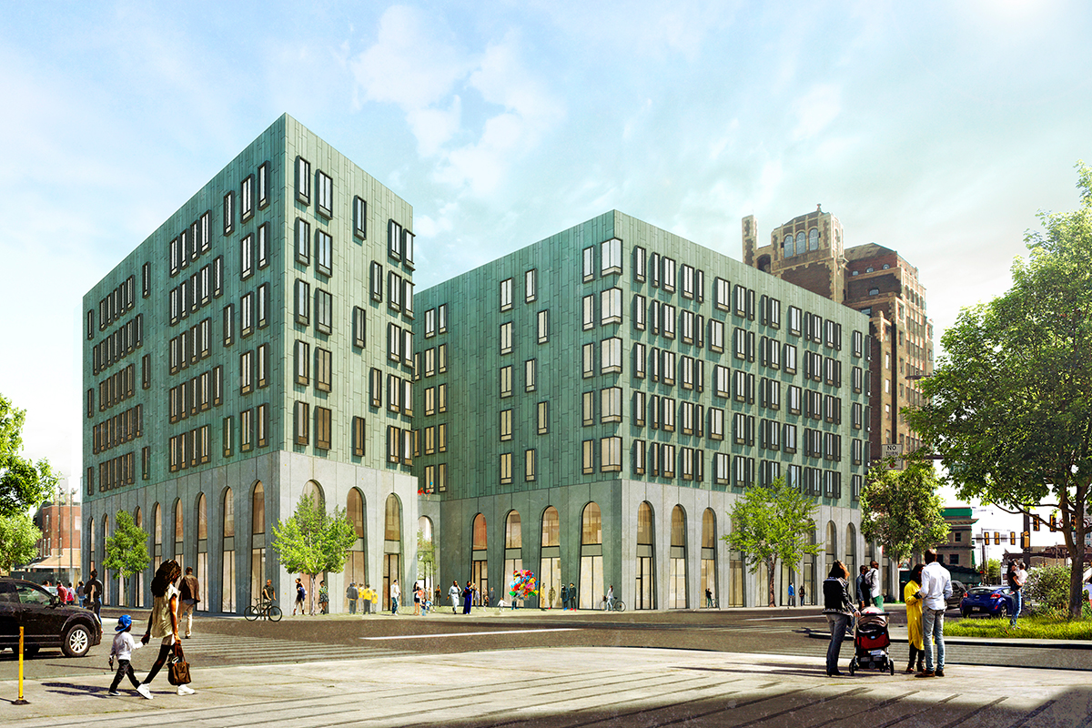 Residences at the Beury North Broad philadelphia affordable market rate