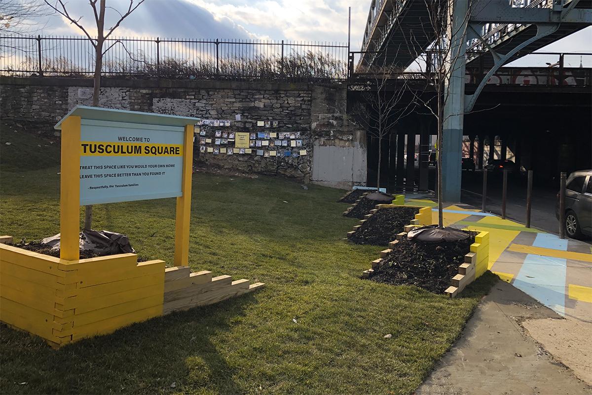 Tusculum Square park build community philadelphia Shift